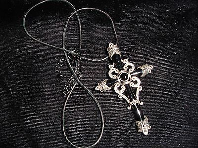 Gothic Whitby Cross Pendent.