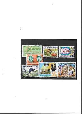 SENEGAL, small collection of stamps from the 1970s. All MNH. Good value