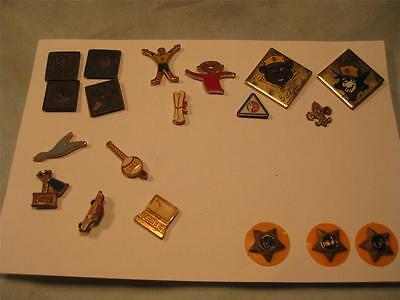 Vintage 1950's Official Boy Scout 19 Pins