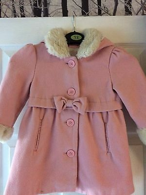 Gorgeous Girls Winter Coat Age 2/3 Years Pink