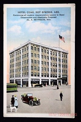 c.1915 Postcard Street View of the Hotel Como in Hot Springs, Ark. - Unposted