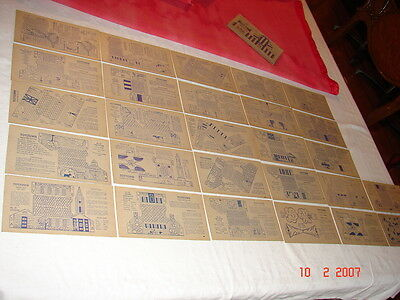 VINTAGE NABISCO SHREDED WHEAT ToyTown Color & Cut Cards lot of 27 W LAYOUT CARD
