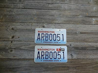 Washington License Plates Evergreen State BOO! Original Pair. WA License Plates.