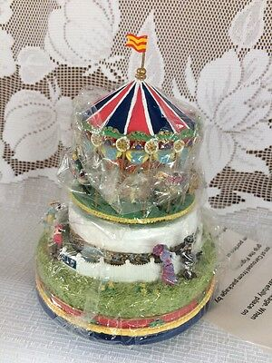 Liberty Falls Collectors Club Village House Carousel Music Box NEW IN BOX