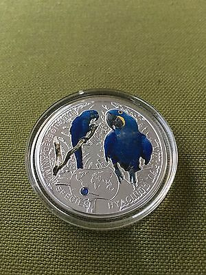 Niue 2014 1$ Hyacinth Macaw - Endangered Species of Animals 1/2 Oz Proof Silver