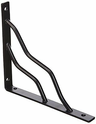 Stanley Hardware 7-by-8-Inch Modern Shelf Bracket, Black #250596