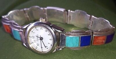 watch bracelet inlaid  and sterling