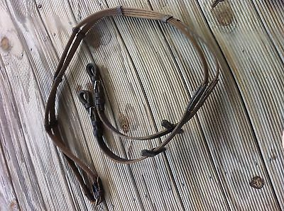 leather and webbing reins