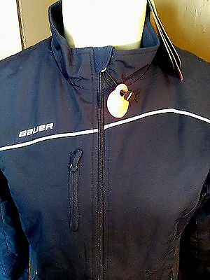 Bauer Hockey Navy Lightweight Warmup Jacket~Womens Large