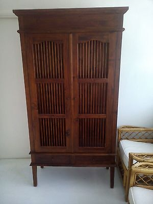 Solid Wood Birdcage Style Bookcase/display Cabinet