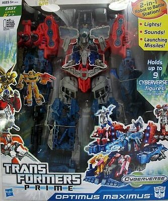 Transformers Optimus Prime Maximus Kids Boys Action Figure Cyberverse Playset