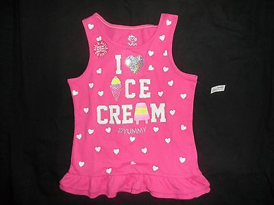 NEW WITH TAG'S! Girls Pink Tank top Shirt Size 6