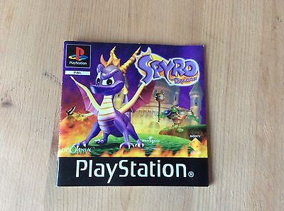 MANUAL ONLY Spyro the Dragon Black Label PS1 Sony PlayStation 1 Instructions