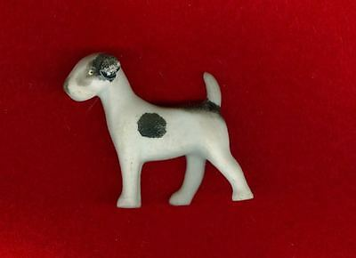 Vintage Small Porcelain Bisque Smooth Fox Terrier Germany Dog Figurine c1930s