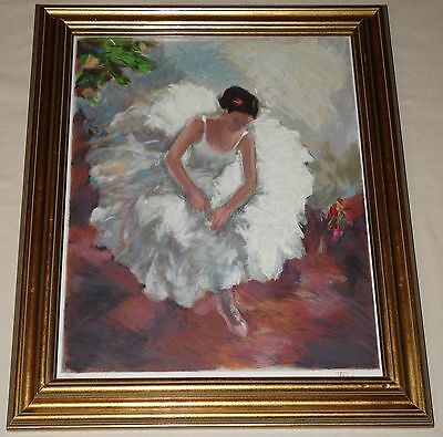 Framed Pencil Signed Ltd Edition Lithograph of a Ballerina.