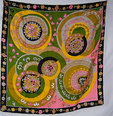 Vintage 60s Givenchy Op Art Abstract Scarf Silk