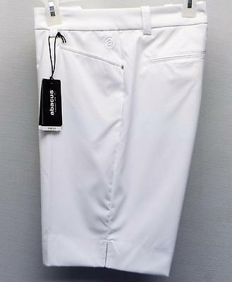 New Ladies Abacus Size 8 Dry Cool white polyester spandex golf shorts