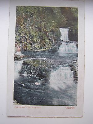 Falls of the Hepste, Brecon, Wales vintage postcard. Printed in Germany.