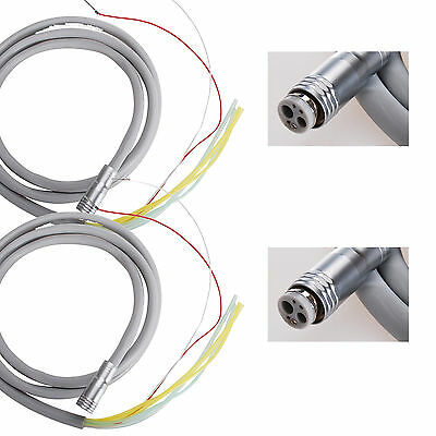 2PCS New Dental Silicone Tubing tube Cable 6 holes for Fiber Optic LED Handpiece