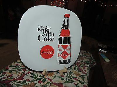 """PLASTIC COCA COLA DINNERWARE 10.5"""" PLATE by Gibson"""