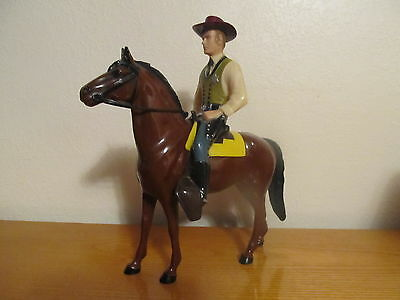 1960's Hartland Statue Wyatt Earp with Horse, Saddle, Hat, Pistol.