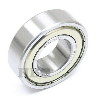 "Radial Ball Bearing 6203-Zz-12 With 2 Metal Shields & 3/4"" Bore"