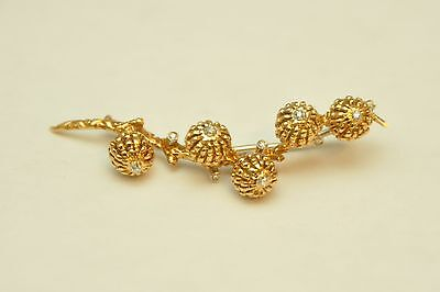 EXTREMELY RARE 18k Yellow Gold & Diamond TIFFANY & CO. Tree Branch Brooch
