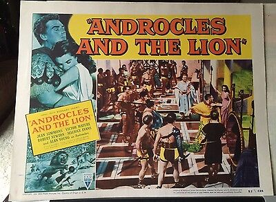 1952 Original  ANDROCLES AND THE LION Lobby Card