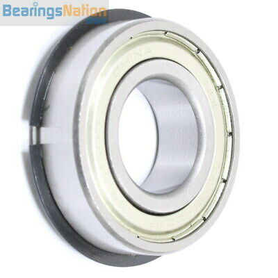Double Row Ball Bearing 5204-ZZNR With 2 Metal Shields Snap Ring