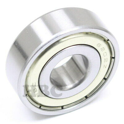 "Radial Ball Bearing 6202-Zz-8 With 2 Metal Shields & 1/2"" Bore"