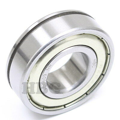 Radial Ball Bearing 6202-Zznr With 2 Metal Shields & Retaining Ring