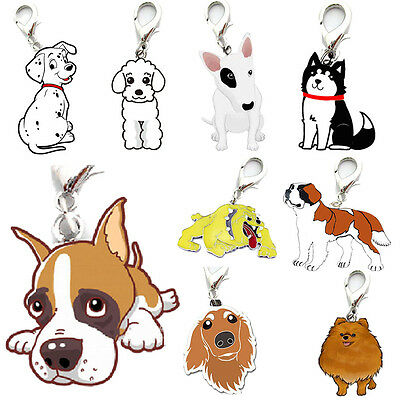 Pet Dog Tag Enamel Collar Accessory Puppy Neck Pendant Key Rings Keychain