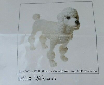 PVC Poodle Mannequin Dog Display Move legs head for positionin removable head