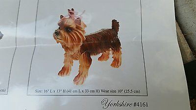 PVC Yorkshire Mannequin Dog Display Move legs head for positionin removable head