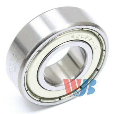 "Radial Ball Bearing 6202-Zz-10 With 2 Metal Shields & 5/8"" Bore"