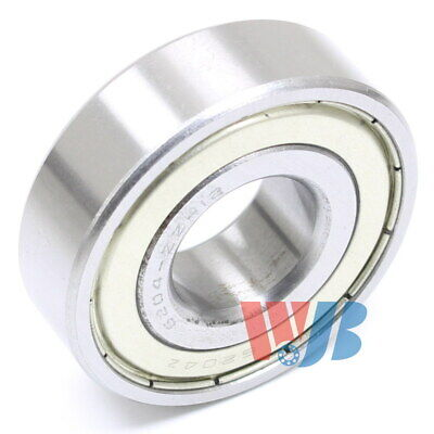 """Radial Ball Bearing 6204-ZZ-12 With 2 Metal Shields & 3/4"""" Bore 19.05x47x14mm"""