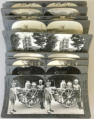 """Lot of 20 Keystone Stereoviews All From Rare 1200 Card """"Tour of the World"""" Set"""