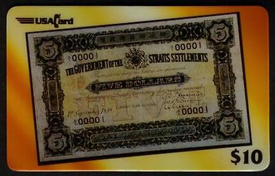 $10. Straits Settlements: Design of 1898 $5. 1st Government Banknote