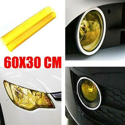 1x 60x30CM Yellow Car Headlight Taillight Tint Vinyl Smoke Film Sheet Sticker