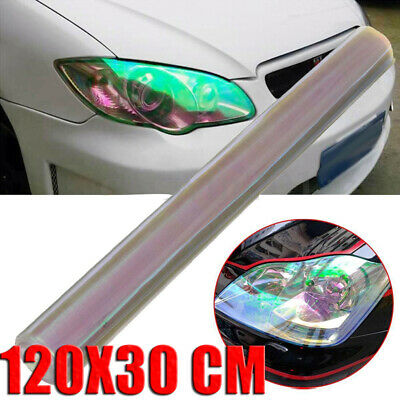 1x 120x30CM Transparent Car Headlight Taillight Tint Vinyl Film Sheet Sticker