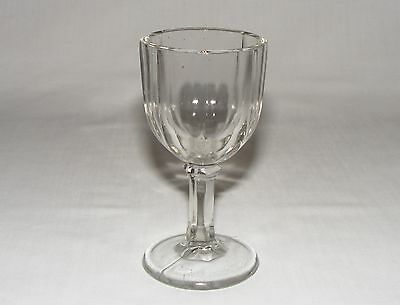 Antique Victorian Early American Pressed Glass Wine Cordial Colonial Goblet 1880