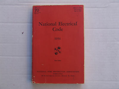 National Electrical Code NEC 1956 NFPA No. 70.