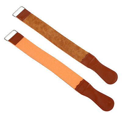 "18.5"" Barber Leather Strop Straight Razor Sharpening Shave Shaving Strap Belt HJ"