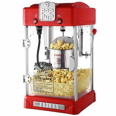Home Popcorn Popper Machine Maker Movie Commercial Supplies Stand Concession