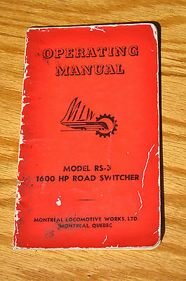 MLW Alco Montreal Locomotive Works RS-3 1600 HP Road Switcher Operating Manual