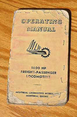 MLW Alco Montreal Locomotive Works 1600 HP Freight-Passenger Operating Manual