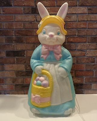 "Excellent Empire 36"" Mrs Easter Rabbit Bunny Blow Mold & Cord Lot A"