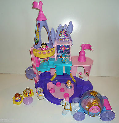 Fisher Price Little People DISNEY CINDERELLA PALACE CARRIAGE COACH & EXTRAS