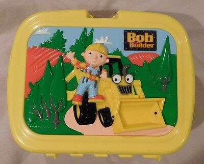 2001 Bob The Builder Plastic Thermos With Lunch Box Complete
