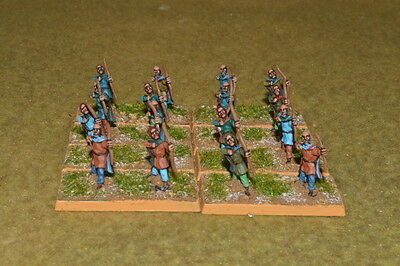 1/100 15mm DPS painted DBMM DBA FOG Ancient German Archers ExEG007